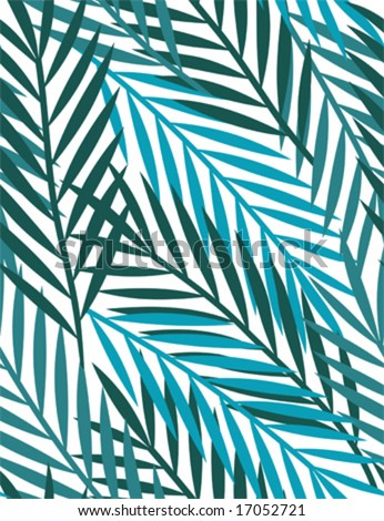 tropical leaves - seamless pattern , palm leaves