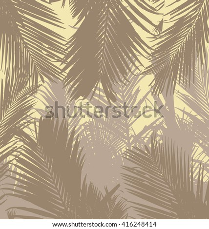 Tropical palm leaves floral exotic pattern background