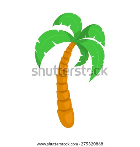 Tropical palm tree. Isolated icon pictogram.  - stock vector