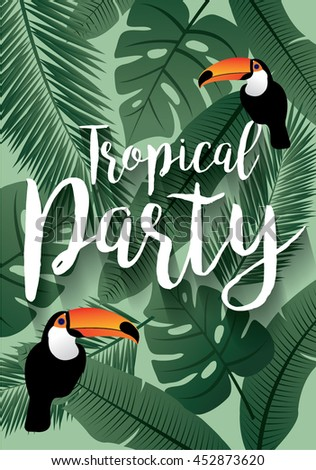 tropical party/ summer template vector/illustration - stock vector