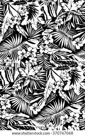 Tropical seamless pattern  - stock vector