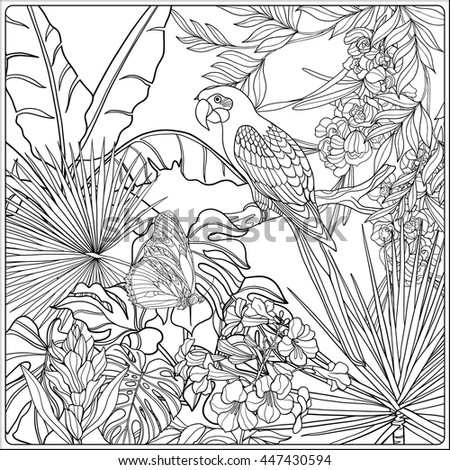 Galerry flower with heart coloring pages