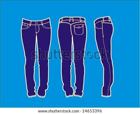 trousers design - stock vector
