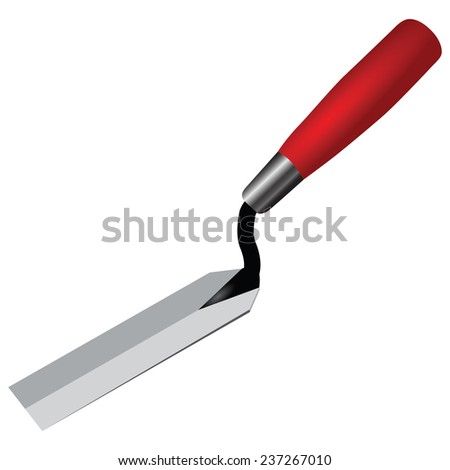 Trowel for archeology and treasure hunters. Vector illustration. - stock vector