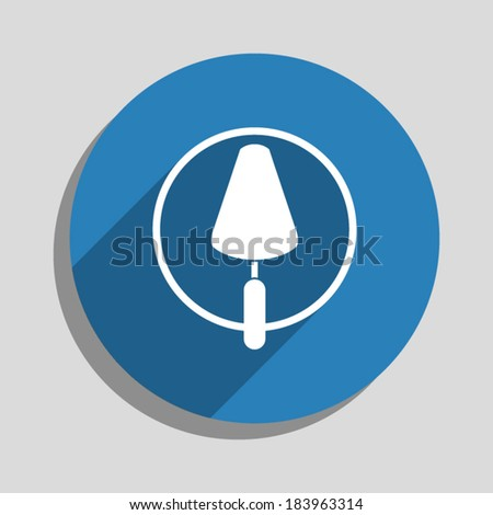 trowel icon, vector illustration. Flat design style - stock vector