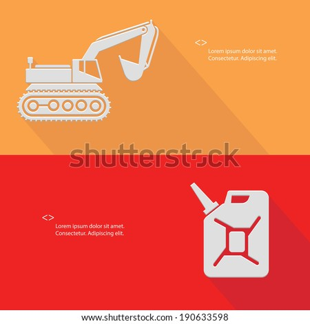 Truck and oil,Blank for text,vector - stock vector