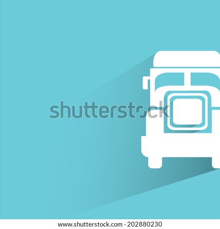 truck, blue shadow and flat theme - stock vector