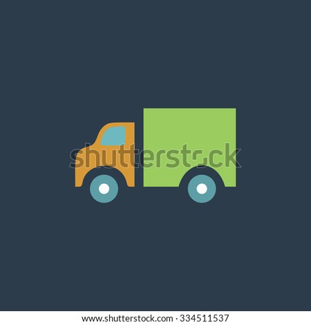 Truck. Colorful vector icon. Simple retro color modern illustration pictogram. Collection concept symbol for infographic project and logo