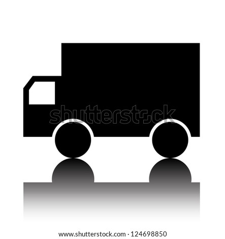 Truck delivery icon - stock vector