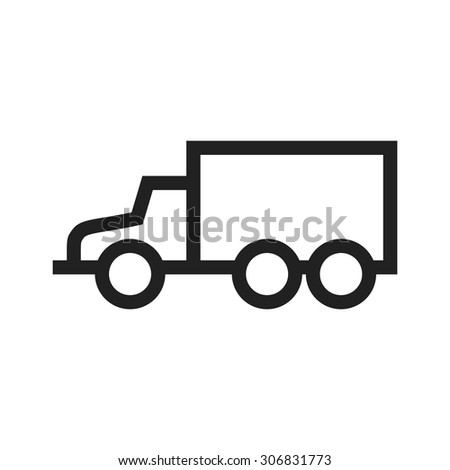 Truck, delivery, logistics icon vector image. Can also be used for military. Suitable for use on web apps, mobile apps and print media.
