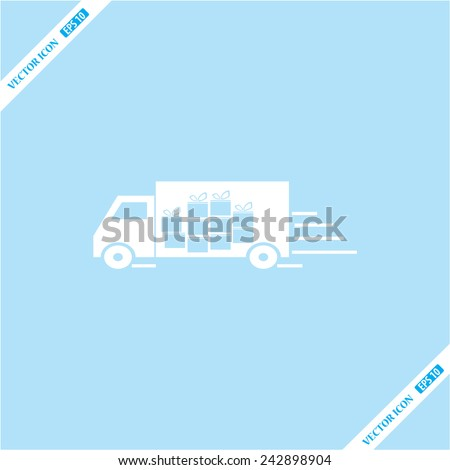truck for gift  icon - stock vector