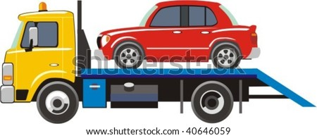 truck for transportation faulty and emergency cars