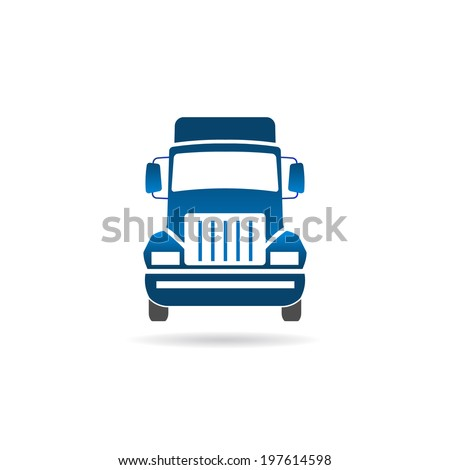 Truck front image. Vector icon - stock vector