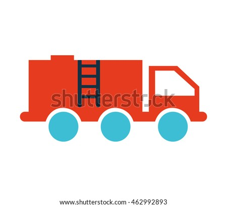 truck fuel tank isolated icon vector illustration design