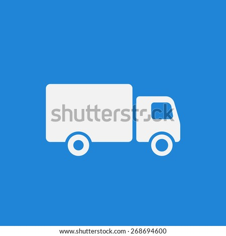 Truck icon flat style modern design. Vector illustration EPS8 - stock vector