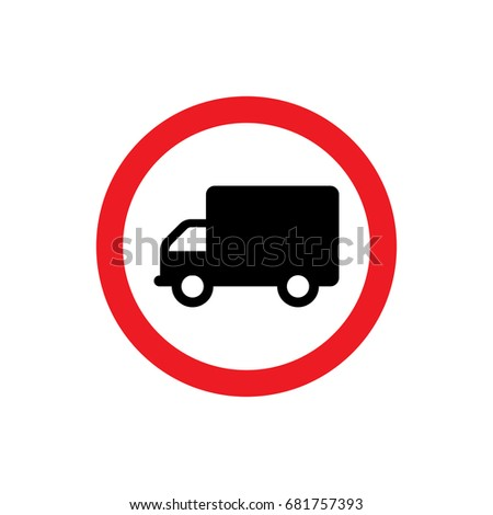Truck icon illustration isolated vector sign symbol