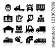 Truck icons - stock vector