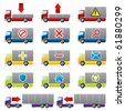 Truck icons for the web - stock photo