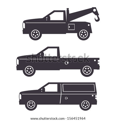 Truck Illustration - one color - stock vector
