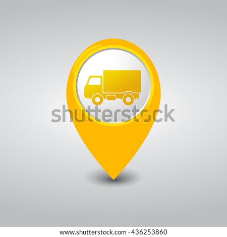 Truck Location Yellow Pointer
