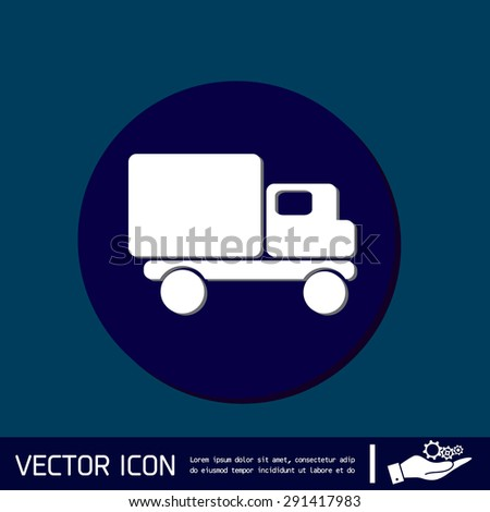 Truck. Logistic icon. Transportation symbol. symbol icon laden truck. carriage of the goods or things