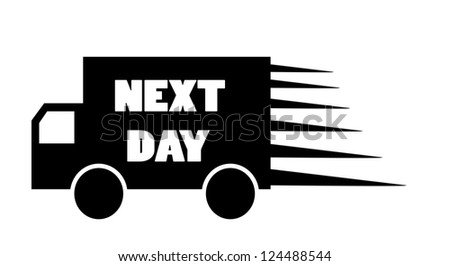 Truck next day delivery icon vector - stock vector