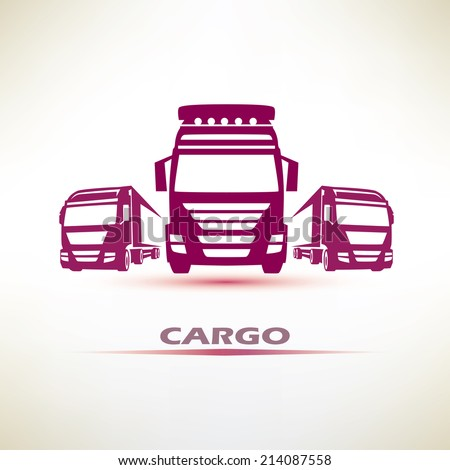 truck outlined vector symbol - stock vector
