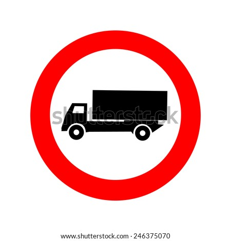 Truck sign icon great for any use. Vector EPS10.