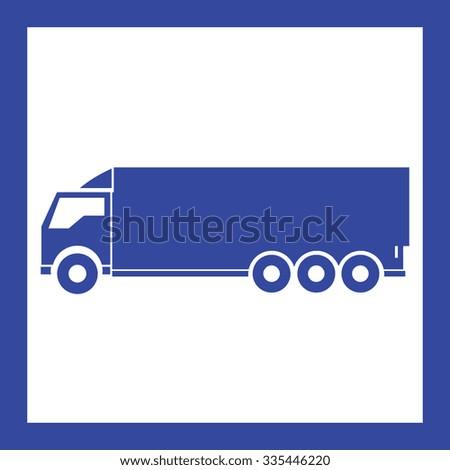 truck transport - stock vector