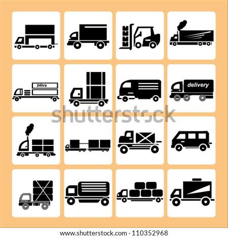 truck, transportation - stock vector