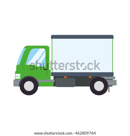 truck transportation delivery shipping icon. Isolated and flat illustration. Vector graphic