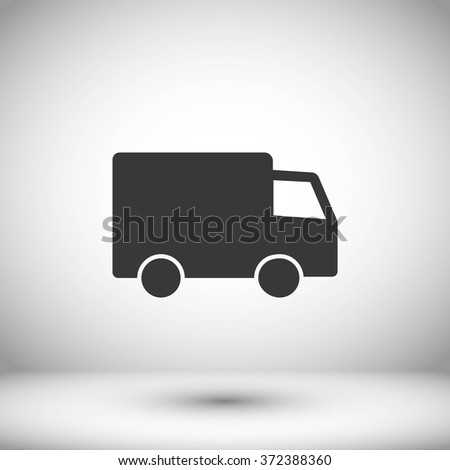 truck vector icon  - stock vector