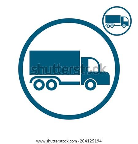 Truck vector simplistic icon. - stock vector