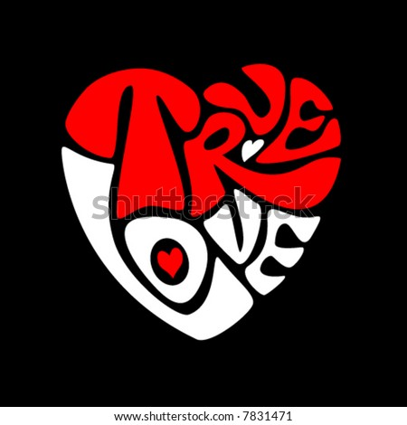 True love heart. Vector - stock vector