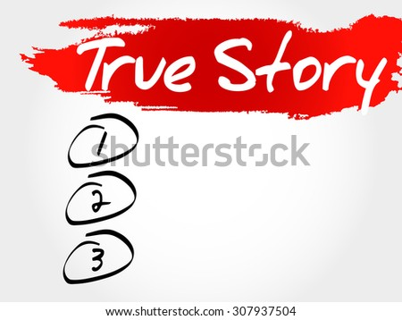 True Story blank list, business concept - stock vector
