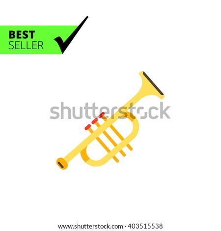 Trumpet icon - stock vector