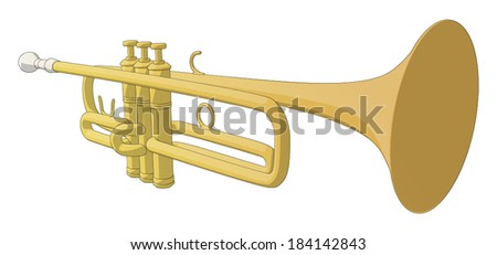 Trumpet -  Vector Artwork (isolated on white background).