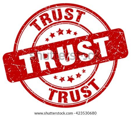 trust red grunge round vintage rubber stamp.trust stamp.trust round stamp.trust grunge stamp.trust.trust vintage stamp. - stock vector