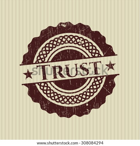 Trust rubber grunge seal - stock vector