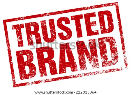 trusted brand rubber stamp - stock vector