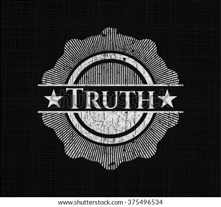 Truth written with chalkboard texture - stock vector