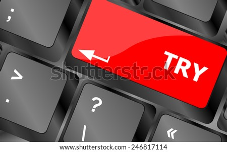 try button on keyboard key - stock vector