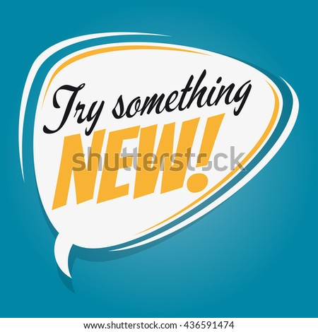 try something new retro speech bubble