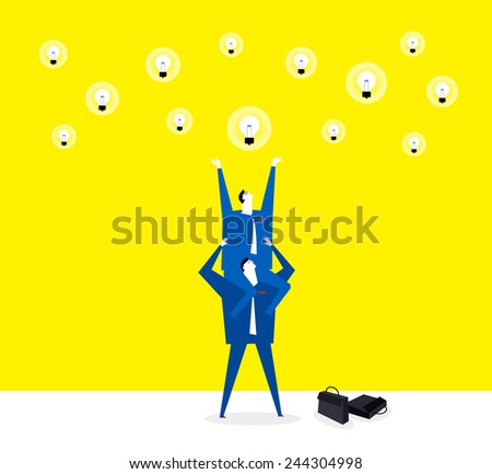 Trying to get the ideas on the sky - stock vector