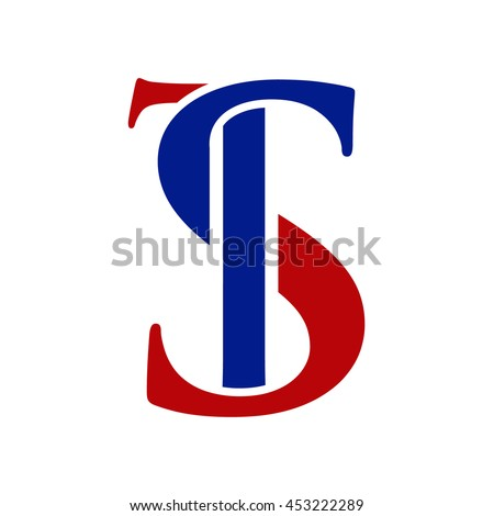 Ts Design ts initial logo st initial logo stock vector 2018 453222289