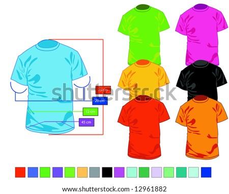 tshirt - stock vector