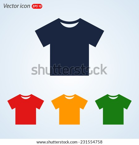Tshirt Icon icon, vector illustration. Flat design style   - stock vector