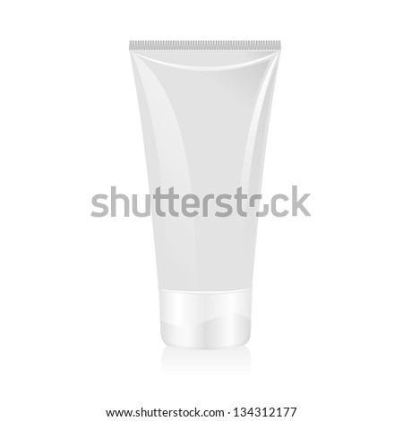 Tube of cream isolated