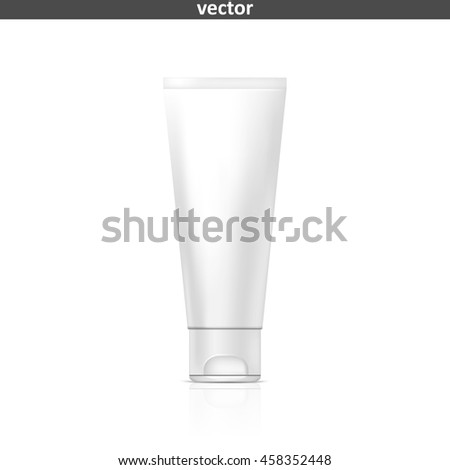 Tube of cream or gel. Illustration isolated on white background. Graphic concept for your design - stock vector