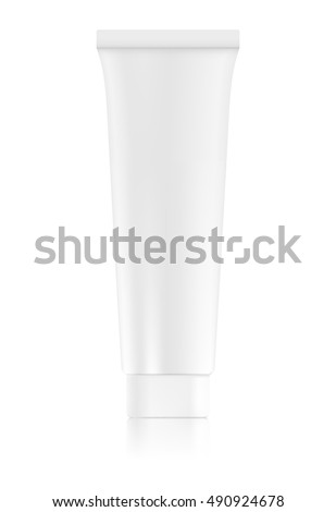 Tube of cream, toothpaste, lotion or gel isolated on white background